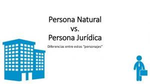¿Qué es persona natural y jurídica?